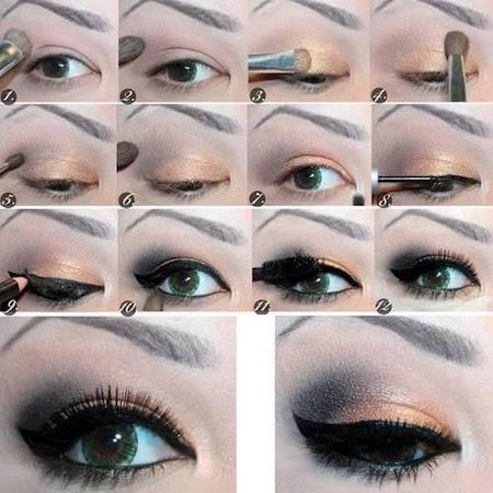 Как накрасить глаза в домашних условиях фото