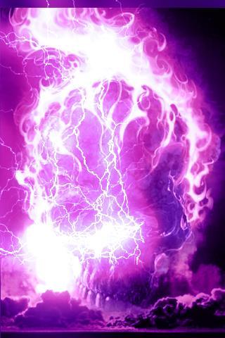 Pics For > Skull On Purple Fire