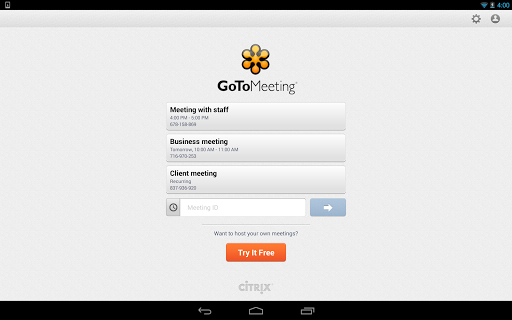 Gotomeeting Android Informer Screenshots
