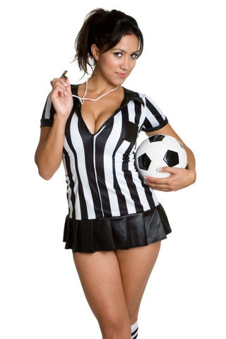 PHOTO OF GIRLS SOCCER WITH REFEREE