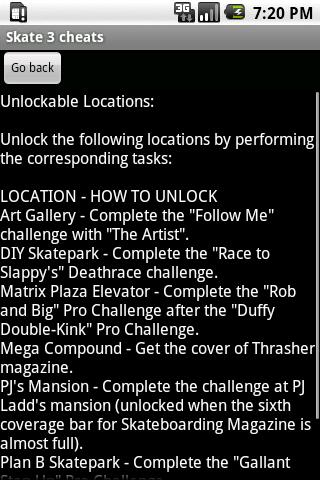 Skate 3 Cheats Android Informer This Guide Includes All