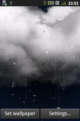 real weather livewallpaper android informer sunny rain
