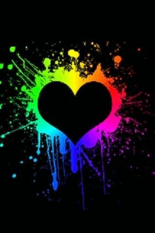 cool neon heart wallpaper - photo #3