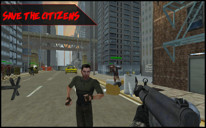 Screenshots of zombie outbreak shooter 101