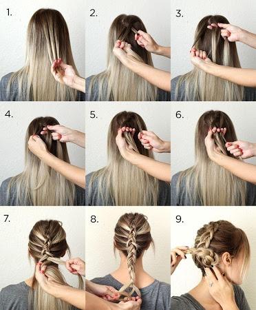 Плетение на средние волосы в домашних условиях пошагово
