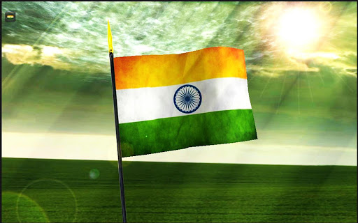 Flower With Indian Flag Hd: Indian Flag 3D Flower Touch Free Download