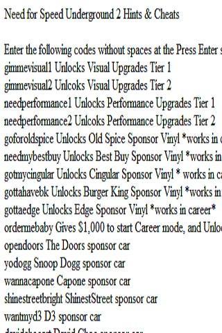 Need For Speed Underground 2 Cheats Xbox 360 Need4speed Fans